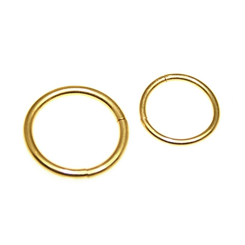 Goldener segment ring 1 6mm 10 00 headshop fashion - Lippenpiercing ring ...