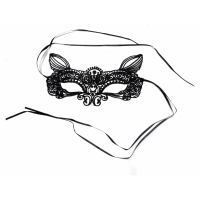 Black lace cat Mask