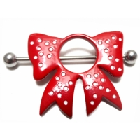 Nippelpiercing Red cute Bow